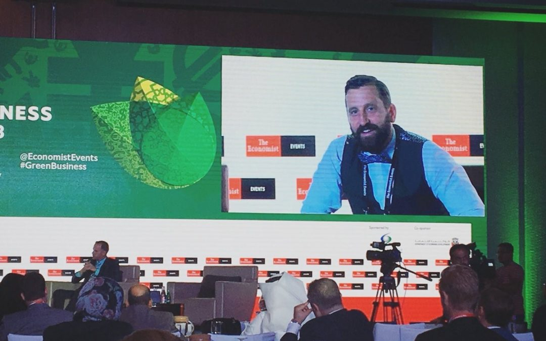Leading the Way: Charles Blaschke heads the 'Voices from the Future' panel at the Green Business Summit 2018
